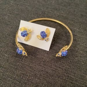 C. Wonder Bejeweled Insect Bangle and Earring Set